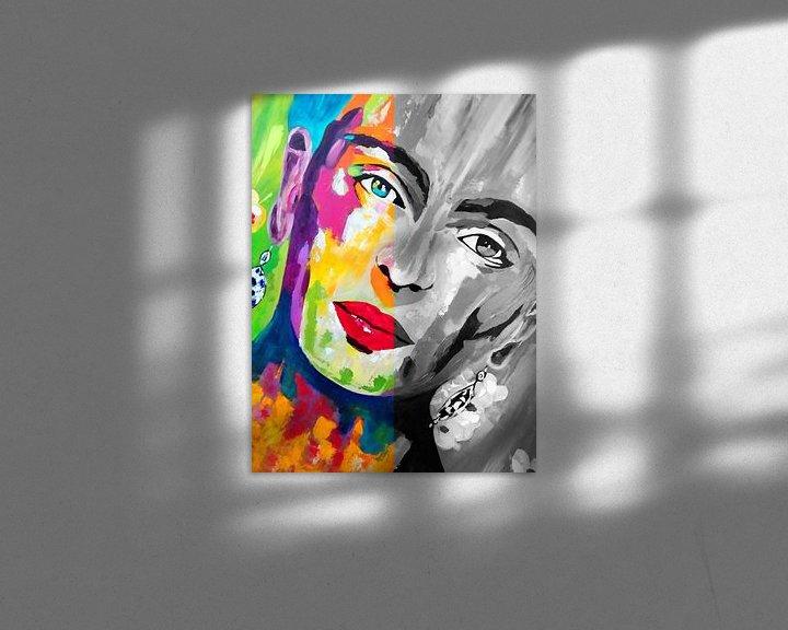 Beispiel: Frida Kahlo Duo Gesicht von Kathleen Artist Fine Art