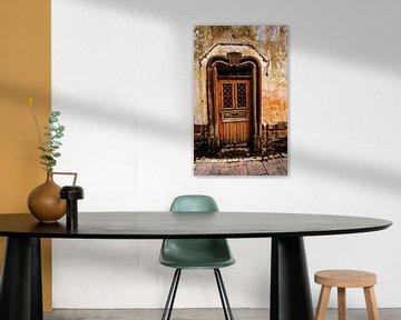 Oude verweerde deur von Harrie Muis
