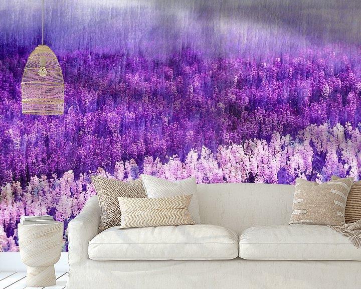 Beispiel fototapete: Lila Regen von Paula van den Akker