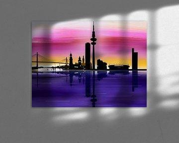 """""""Skyline Hamburg"""" 2021 von Keep Magic"""