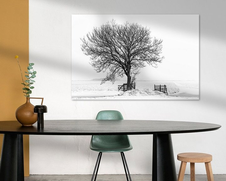 Beispiel: Baum in Winterlandschaft von Beeldbank Alblasserwaard