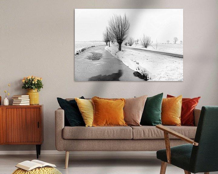 Beispiel: Verschneite Polderlandschaft im Alblasserwaard von Beeldbank Alblasserwaard