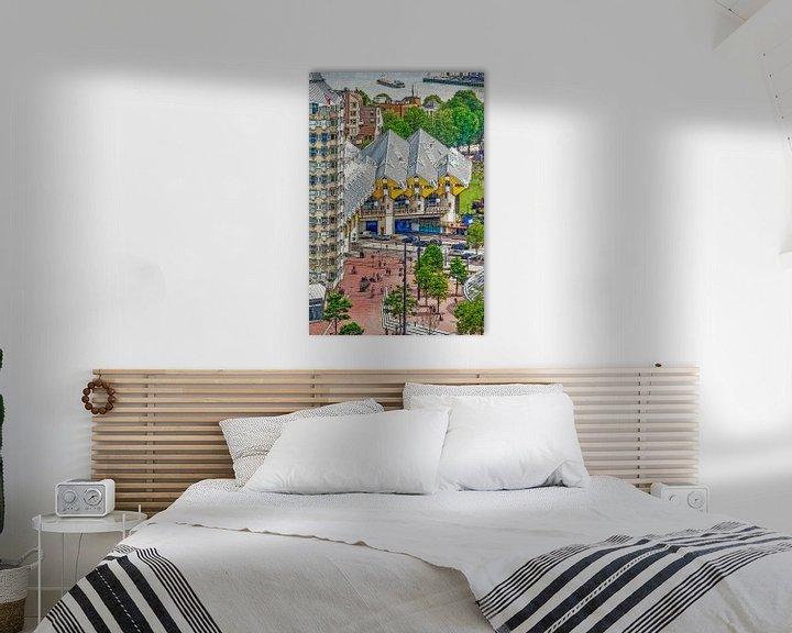 Sfeerimpressie: Verschildering Blaakse Bos, Rotterdam van Frans Blok