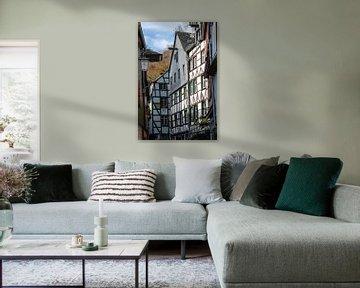 Fassaden von Fachwerkhäuser in Monschau von Reiner Conrad