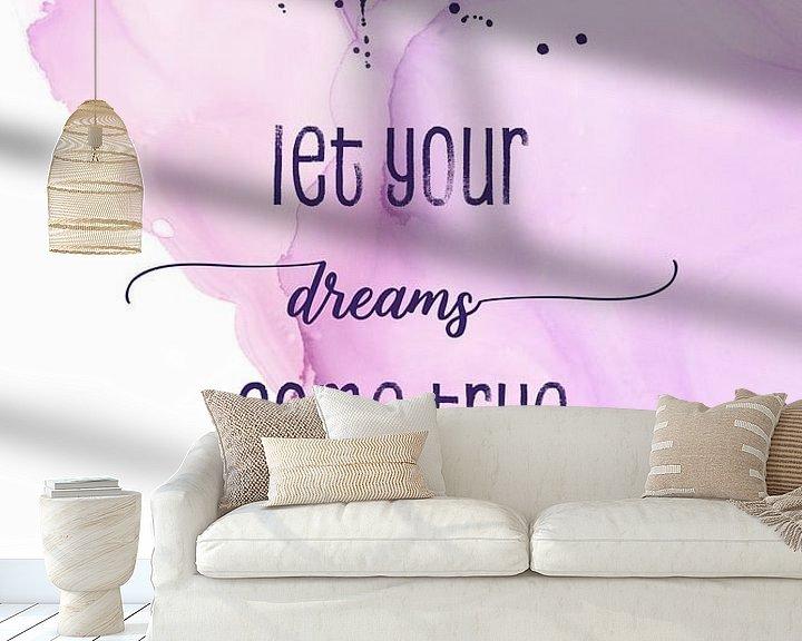Sfeerimpressie behang: Let your dreams come true | floating colors van Melanie Viola