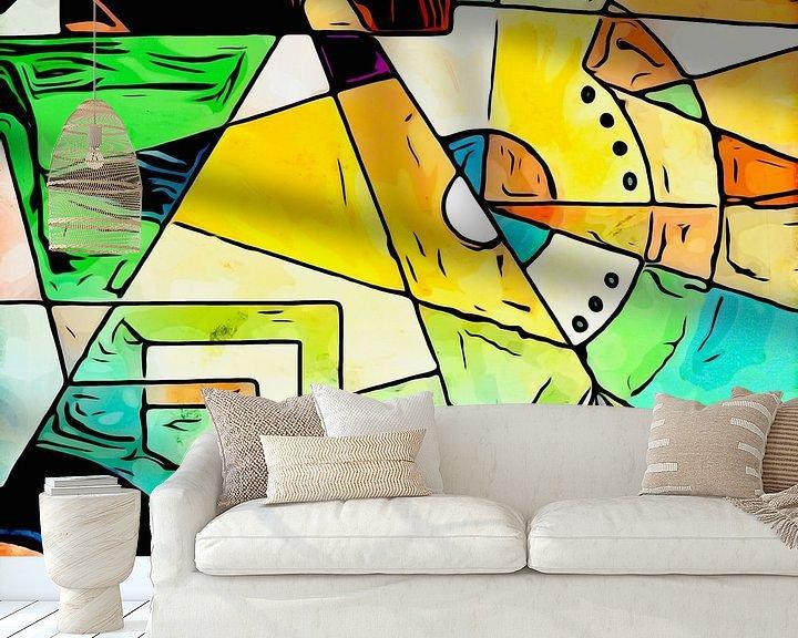 Sfeerimpressie behang: Geïrriteerd van zam art