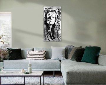 Marilyn Monroe & Katze von Kathleen Artist Fine Art