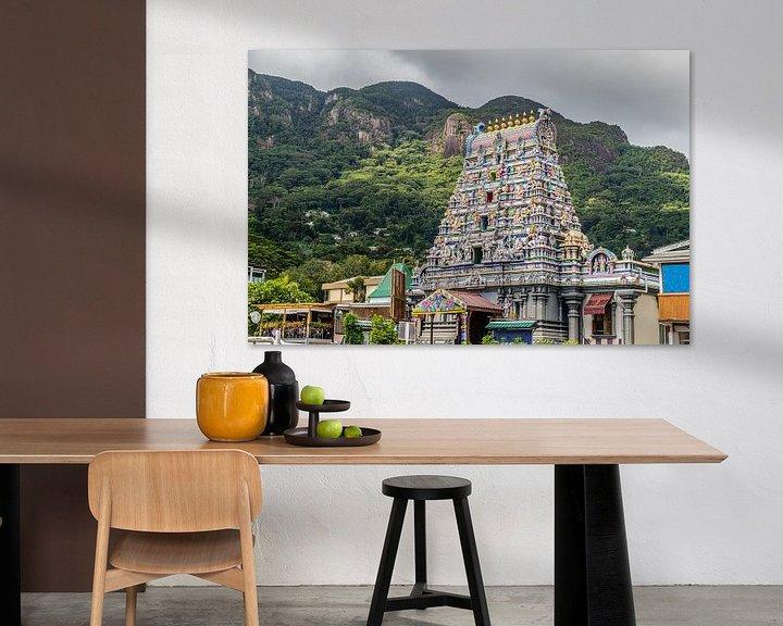 Beispiel: Hindutempel in Victoria auf den Seychellen von Reiner Conrad