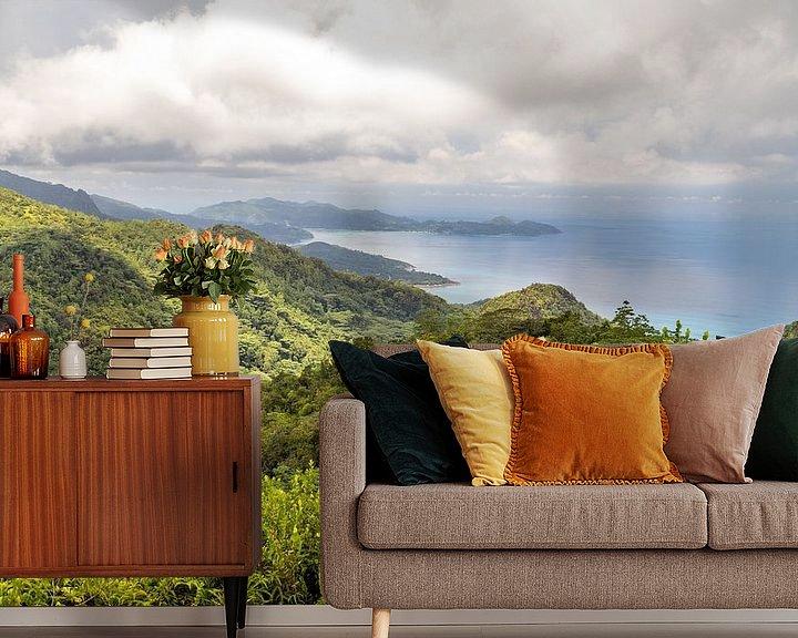 Beispiel fototapete: Panoramablick auf die Küstenlandschaft auf der Seychelleninsel Mahé von Reiner Conrad