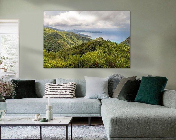 Beispiel: Panoramablick auf die Küstenlandschaft auf der Seychelleninsel Mahé von Reiner Conrad