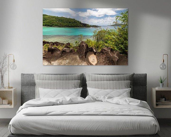 Beispiel: Panoramablick auf eine Bucht auf der Seychelleninsel Mahé von Reiner Conrad