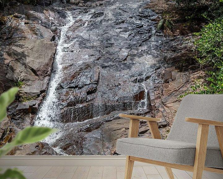 Beispiel fototapete: Wasserfall auf der Seychelleninsel Mahé von Reiner Conrad