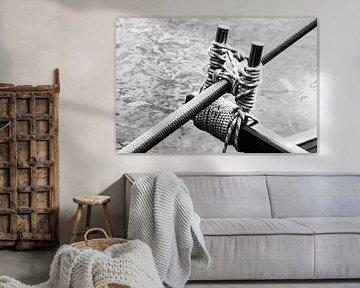 Das Langruder eines Drachenbootes von Norbert Sülzner