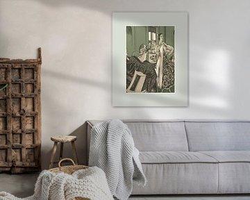 A night out | Historischer Art Deco Modedruck | Retro-Druck in modernen Farben