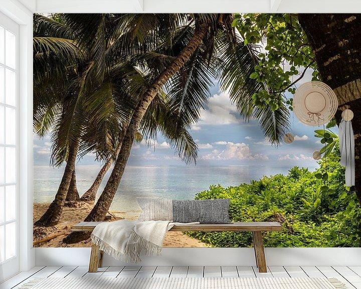 Beispiel fototapete: Strand anse royale auf der Seychelleninsel Mahé von Reiner Conrad