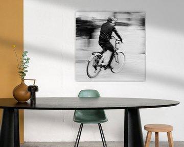 Radfahrer in Bewegung von FRE.PIC