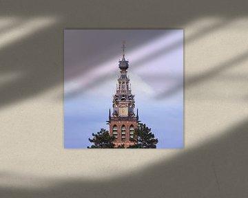 St Stevenskerk Nijmegen mit pastellfarbenen Wolken von Patrick van Os