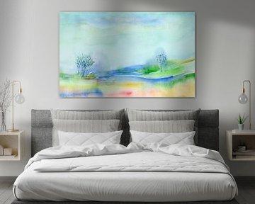 blauwe natuur van Claudia Gründler