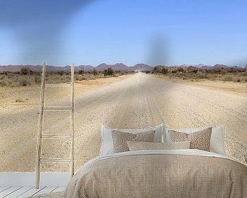 Woestijnpad in Namibië van Achim Prill