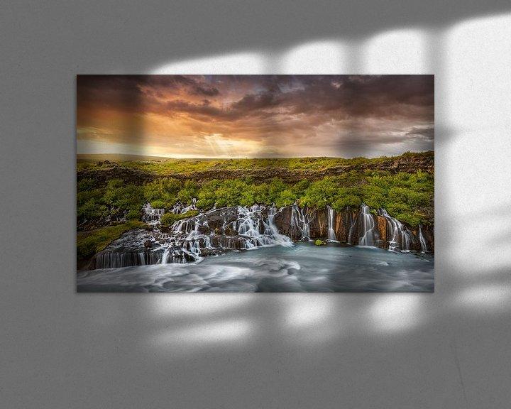 Beispiel: Island Wasserfall von FineArt Prints   Zwerger-Schoner  