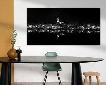 Blokzijl-6, Schwarz-Weiß-Panorama, Niederlande von Adelheid Smitt