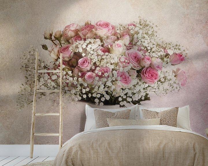 Beispiel fototapete: Krug mit Rosen von Claudia Moeckel