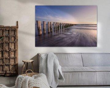 Golfbreker in zee van Thom Brouwer