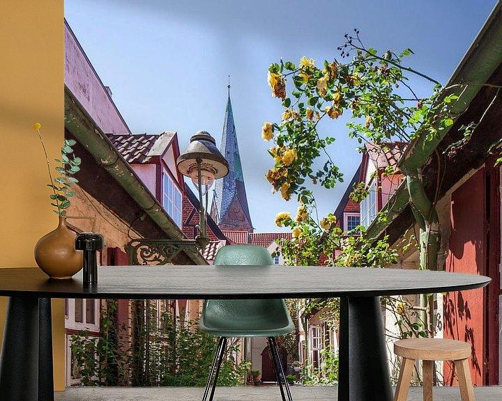 Beispiel fototapete: Von-Höveln-Gang, Altstadt, Lübeck, Schleswig-Holstein von Torsten Krüger