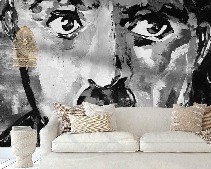 """Beispiel fototapete: Charlie Chaplin """"Augen"""" von Kathleen Artist Fine Art"""