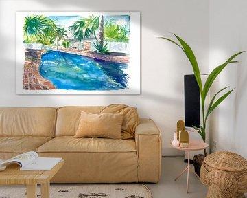 Magic Blue Pool im abgelegenen Key West Florida von Markus Bleichner
