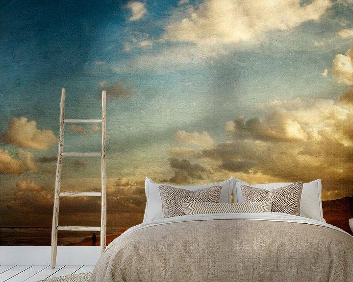 Sfeerimpressie behang: Strandwandeling in de ochtend van Dirk Wüstenhagen