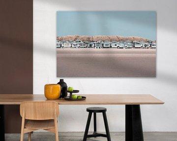 Strandhuisjes op IJmuiden van Lynlabiephotography