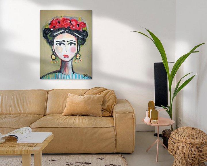 Beispiel: Frida mit Rosen von Danielle Ducheine