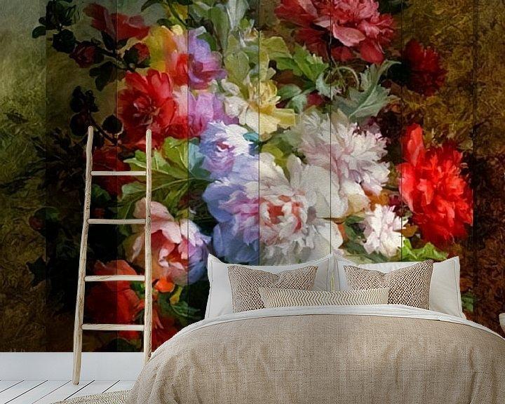 Beispiel fototapete: Stillleben mit Blumen und Notenblättern. Blumenweber von Rudy & Gisela Schlechter