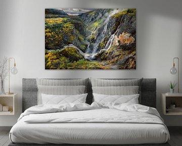 Wasserfall Voringsfossen, Norwegen