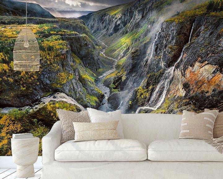 Beispiel fototapete: Wasserfall Voringsfossen, Norwegen von FineArt Prints   Zwerger-Schoner  
