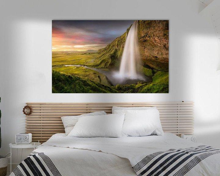Beispiel: Seljalandsfoss Island | Wasserfall von FineArt Prints | Zwerger-Schoner |