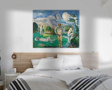 Badende bei der Rast , Paul Cézanne (ca. 1876-1877) von Atelier Liesjes