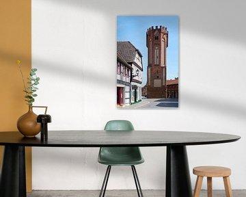 Uilentoren in de historische binnenstad van Tangermünde van Heiko Kueverling