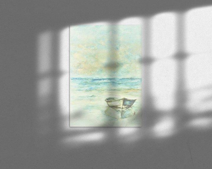 Beispiel: Gestrandetes Ruderboot. von Ineke de Rijk