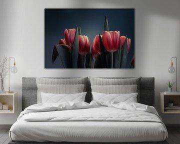 Stilleben mit holländischen Tulpen von Bastiaan Veenstra