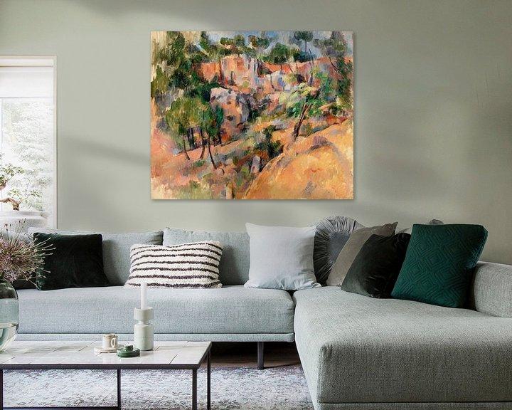 Beispiel: Paul Cézanne, Bibémus (ca. 1894-1895) von Atelier Liesjes