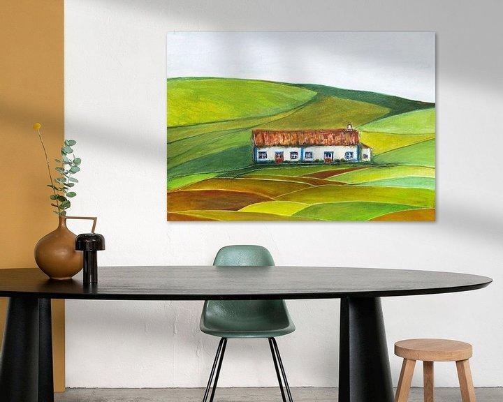 Beispiel: Weißes Bauernhaus in Portugal. von Ineke de Rijk