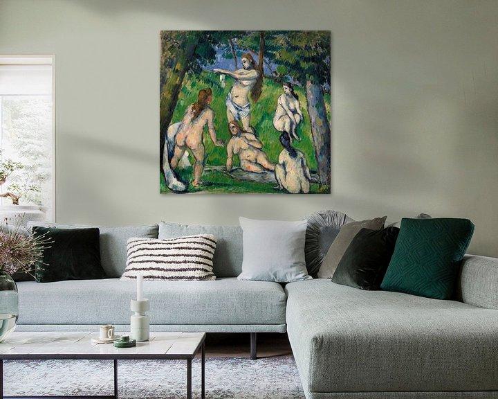 Beispiel: Fünf Badende, Paul Cézanne (ca. 1877-1878) von Atelier Liesjes