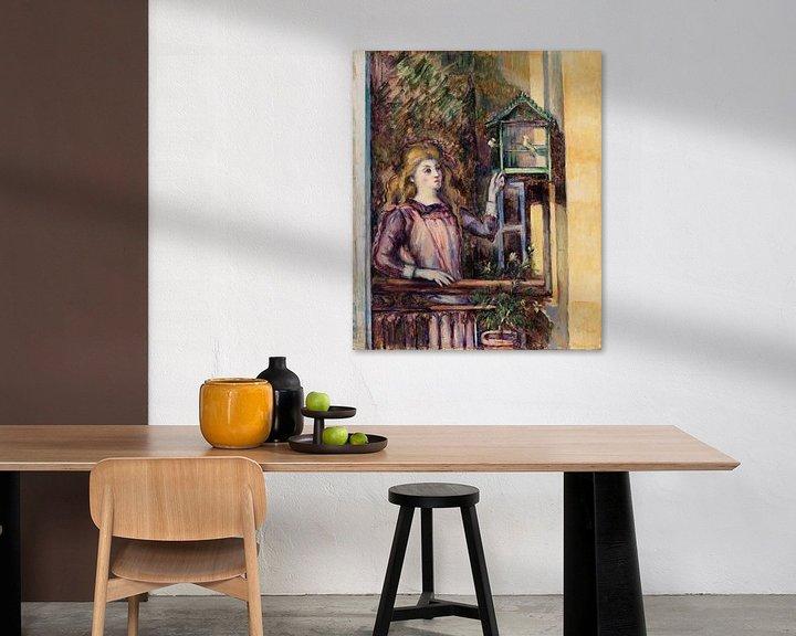 Beispiel: Mädchen in der Voliere, Paul Cézanne (ca. 1888) von Atelier Liesjes
