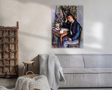 Junger Mann mit Totenkopf, Paul Cézanne (ca. 1896-1898) von Atelier Liesjes