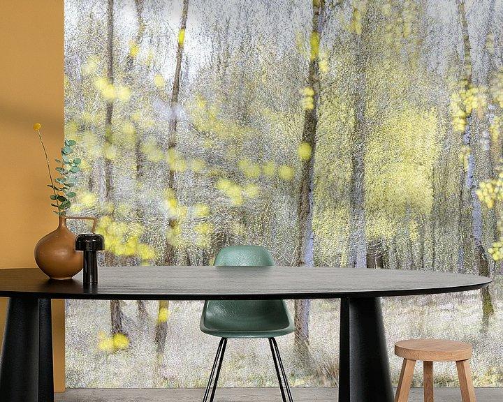 Sfeerimpressie behang: Lenteimpressie met berken in het voorjaar van Teuni's Dreams of Reality