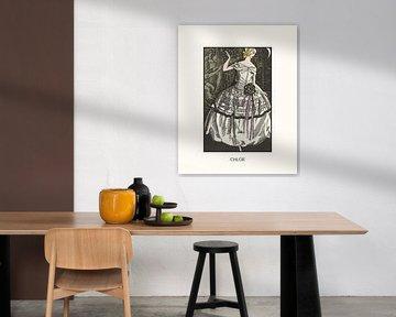 Chloe | Historischer Art Deco Modedruck | Retro-Design mit modernem Look von NOONY