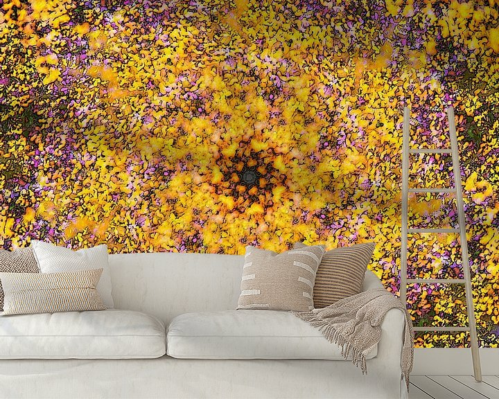 Sfeerimpressie behang: Summer Garden van Frans Blok