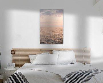 Futen Bij Zonsondergang Op Het IJsselmeer Bij Urk van Henrike Schenk